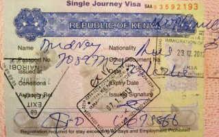 Виза в Кению: виды, цены и способы оформления