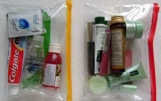 Сколько жидкости можно брать в самолет в багаж