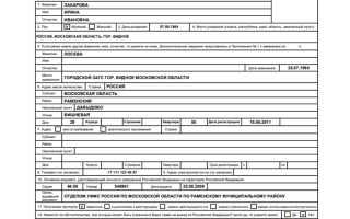 Загранпаспорт старого образца: как заполнить анкету на получение