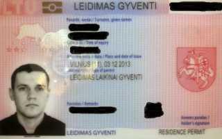 Основания для получения гражданства Литовской Республики