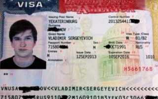 Где обычно указывается номер визы в США в 2020 году