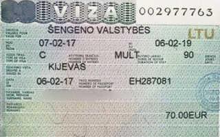 Cтоимость литовской визы в 2020 году