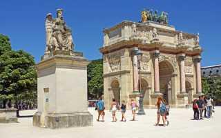 Триумфальная арка — символ непобедимости французской армии