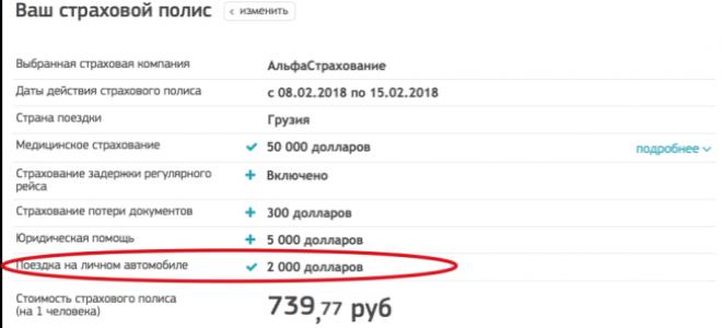 Страховка в Грузию для россиян в 2020